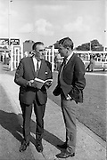 17/09/1968<br /> 09/17/1968<br /> 17 September 1968<br /> Goffs September Bloodstock sales at the RDS, Ballsbridge Dublin (2nd day). Picture shows Mr Ben Dunne and his son Frank, Ringmahon Stud, Cork, at the sales.