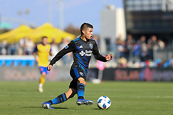 October 21, 2018 - San Jose, California, United States - San Jose, CA - Sunday October 21, 2018: Eric Calvillo during a Major League Soccer (MLS) match between the San Jose Earthquakes and the Colorado Rapids at Avaya Stadium. (Credit Image: © Maciek Gudrymowicz/ISIPhotos via ZUMA Wire)