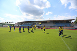 Players before football match between NK Domzale and ND Gorica in Round #34 of Prva liga Telekom Slovenije 2016/17, on May 17th, 2017 in Mestni stadion Ptuj, Ptuj, Slovenia. Photo by Ziga Zupan / Sportida