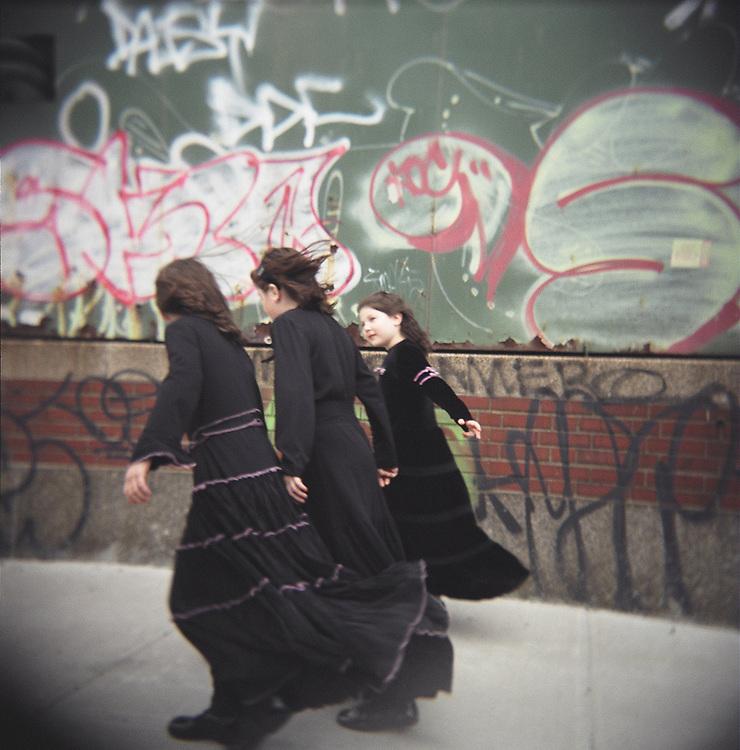 Hasidic girls, Williamsburg, Brooklyn, 2007