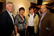 """19/7/2011. Ray Flaherty, Knocknacarra, Eileen Fitzgerald, Knocknacarra, Margaret Keville and Andrew Keaveney, Salthill in McSwiggans for the pre show reception of Propellors """"Comedy of Errors"""" by Shakspeare in the Galway Arts Festival, sponsored by Ulster Bank. Photo:Andrew Downes"""