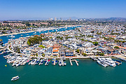 Balboa Island with Fashion Island in the Background