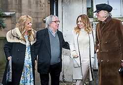 © London News Pictures. 05/03/2016. London, UK. BILL WYMAN and BOB GELDOFF attend a ceremony to mark the wedding of Rupert Murdoch and Jerry Hall held at St Brides Church on Fleet Street,  central London on February 05, 2016. . Photo credit: Ben Cawthra /LNP