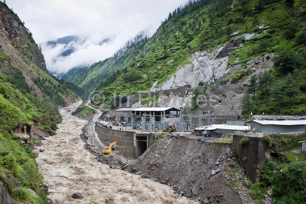The Indian government build a hydro plant on one of the many fast flowing rivers in the Himalayas.