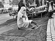 multi ethnic suburb of  Paris during Covid 19 pandemic.