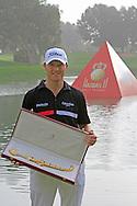 Michael Hoey (NIR) after winning the Trophée Hassan II, Golf du Palais Royal, Agadir, Morocco 25/03/12.Picture Fran Caffrey www.golffile.ie
