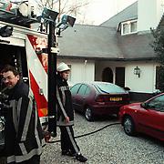 Brand stookhok woning Joop van der Ende Pr.Hendriklaan 8 Blaricum, Janine van der Ende