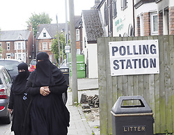 June 8, 2017 - Luton, Luton, United Kingdom - Image ©Licensed to i-Images Picture Agency. 08/06/2017. Luton, United Kingdom. Muslims at a Luton Polling Station. Luton Thursday June 8, 2017. Picture by Max Nash / i-Images (Credit Image: © Max Nash/i-Images via ZUMA Press)