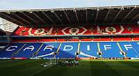 A general view of Cardiff City Stadium, during the Paris Saint-Germain training session<br /> <br /> Photographer Kevin Barnes/CameraSport<br /> <br /> UEFA Women's Champions League Final - Pre match training session - Lyon Women v Paris Saint-Germain Women - Wednesday 31st May 2017 - Cardiff City Stadium<br />  <br /> World Copyright © 2017 CameraSport. All rights reserved. 43 Linden Ave. Countesthorpe. Leicester. England. LE8 5PG - Tel: +44 (0) 116 277 4147 - admin@camerasport.com - www.camerasport.com