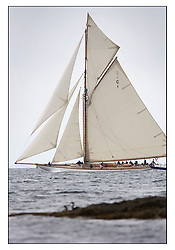 Mariquita 1911 a 19 metre ..The Round the Cumbraes race to open the regatta. Light variable breeze and grey skies shrouded the fleet with a strong spectator fleet...* The Fife Yachts are one of the world's most prestigious group of Classic .yachts and this will be the third private regatta following the success of the 98, .and 03 events.  .A pilgrimage to their birthplace of these historic yachts, the 'Stradivarius' of .sail, from Scotland's pre-eminent yacht designer and builder, William Fife III, .on the Clyde 20th -27th June.   . ..More information is available on the website: www.fiferegatta.com . .Press office contact: 01475 689100         Lynda Melvin or Paul Jeffes
