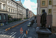 View of the empty street - Naples city 5 April 2020