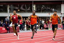 Harvard University<br /> Crimson Elite Indoor track & field meet<br /> mens 60m final, Fullen, Collin