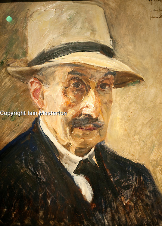 Self Portrait with Straw Hat by Max Liebermann at Judisches or Jewish Museum in Kreuzberg central Berlin Germany