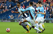 Saido Berahino attacks during the The FA Cup match between West Bromwich Albion and Gateshead at The Hawthorns, West Bromwich, England on 3 January 2015. Photo by Alan Franklin.