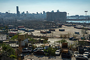Views of the destroyed grain silo at the Port of Beirut on Saturday, Aug 22 2020 nearly 3 weeks after the explosion that devastated the city. (VXP Photo/ Matt Kynaston)
