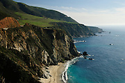 Highway One stretches down the west coast of California.