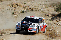 MOTORSPORT - WRC 2010 - JORDAN RALLY - 31/03 TO 03/04/2010 - DEAD SEA (JOR) - PHOTO : FRANCOIS BAUDIN / DPPI - <br /> BRYNILDSEN EYWIND (NOR) / CATO MENKERUD (NOR) - SKODA RENE GEORGES RALLY SPORT - SKODA FABIA S2000 - ACTION