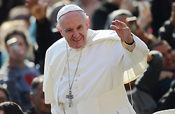 Apr 5, 2017 - Vatican City State (holy See) - POPE FRANCIS during his Wednesday general audience in St. Peter's Square at the Vatican. (Credit Image: © Evandro Inetti via ZUMA Wire)