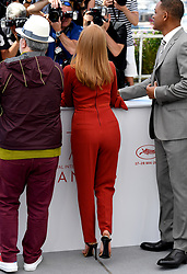 Jessica Chastain (centre) and Will Smith (right) attending the Festival De Cannes Jury photocall as part of the 70th Cannes Film Festival. Photo credit should read: Doug Peters/EMPICS Entertainment