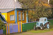 Colourful farm house, near Ekaterinburg, Russia