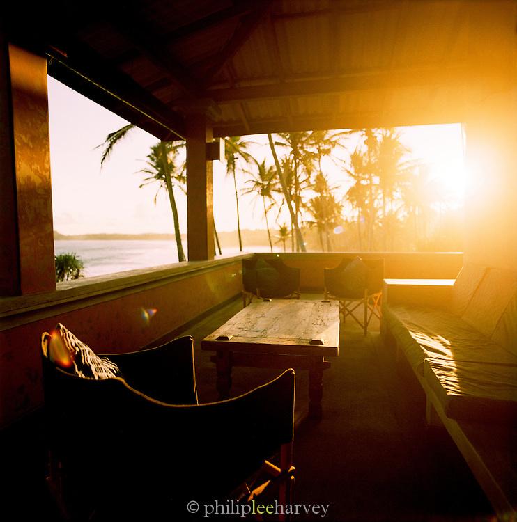 View Of The Indian Ocean From Lansiya Villa, Near Tangalle, On Sri Lanka's South Coast.