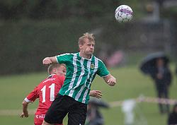 Mikkel Holm Jensen (Bispebjerg Boldklub) under kampen i Sydbank Pokalen, 1. runde, mellem Bispebjerg Boldklub og FC Helsingør den 2. september 2020 i Lersø Parken (Foto: Claus Birch).