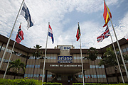 Mcc0084404 . Daily Telegraph<br /> <br /> Aeolus Satellite Launch<br /> <br /> Launch Centre 3 which is responsible for the Ariane and Vega rockets at the European Space Centre in French Guiana  . <br /> The Aeolus Satellite, designed and built by Airbus contains pioneering technology that will monitor winds around the globe that will change weather forecasting forever .<br /> <br /> Kourou, French Guiana 21 August 2018