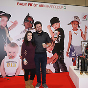 London,England, UK ; 19th Feb 2016 : Dani Harmer and her partner Simon attended the British Red Cross Course at the Baby Show 2016 at Excel London. Photo by See Li
