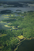 Ariel view of Lake Murray, Middle Fly District, Western Province, Papua New Guinea