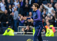 Football - 2019 / 2020 Premier League - Tottenham Hotspur vs. Watford<br /> <br /> Mauricio Pochettino, Manager of Tottenham FC, urges his team on after they disappoint at The Tottenham Hotspur Stadium.<br /> <br /> COLORSPORT/DANIEL BEARHAM
