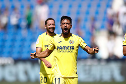 September 16, 2018 - Costa of Villarreal celebrates the victory during the spanish league, La Liga, football match between CD Leganes and Villarreal CF on September 16th, 2018 at Municipal Butarque stadium in Madrid, Spain. (Credit Image: © AFP7 via ZUMA Wire)