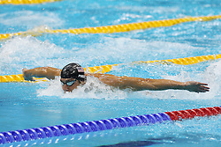 Michael Phelps of the USA during the Men's 200m Butterfly semi-final  held at the aquatics centre at Olympic Park  in London as part of the London 2012 Olympics on the 30th July 2012.Photo by Ron Gaunt/SPORTZPICS