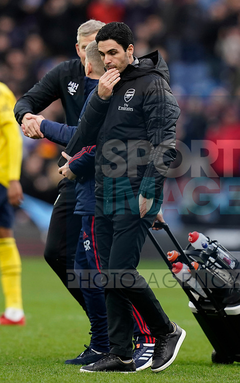 Mikel Arteta manager of Arsenal reflects on the match during the Premier League match at Turf Moor, Burnley. Picture date: 2nd February 2020. Picture credit should read: Andrew Yates/Sportimage