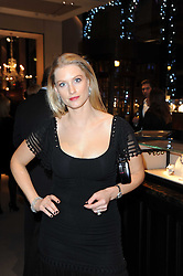 PRINCESS KHALIYA AGA KHAN wife of Prince Hussain Aga Khan and the daughter-in-law of Prince Karim Aga Khan (Aga Khan IV) at a party to celebrate the publication of Nathalie von Bismarck's book 'Invisible' held at Asprey, 167 New Bond Street, London on 9th December 2010.