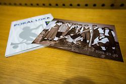 Introducing almanac at anniversaty for 40 years of skiing competition Pokal Loka in Sokolski dom, Skofja Loka, Slovenia on 9 December 2015. Photo By Grega Valancic / Sportida