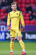 Charlton Athletic goalkeeper Dillon Phillips (1) during the EFL Sky Bet League 1 match between Charlton Athletic and Southend United at The Valley, London, England on 9 February 2019.