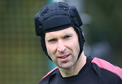 September 27, 2017 - London, England, United Kingdom - Arsenal's Petr Cech.during a Arsenal training session ahead of the UEFA Europa League Group H match against BATE Borisov at Arsenal training centre , London Colney on 27 Sep 2017 St.Albans, England  (Credit Image: © Kieran Galvin/NurPhoto via ZUMA Press)