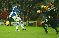 Photo: Aidan Ellis.<br /> Blackburn Rovers v Bayer Leverkusen. UEFA Cup, 2nd Leg. 22/02/2007.<br /> Rovers Benni McArthy misses the best chance to score for his team