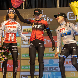 2019-12-29: Cycling: Superprestige: Diegem: Annemarie Worst wins the nightcross of Gieten, Ceylin  del Carmen Alvarado finishes second and stays leader in the GC, European Champion Yara Kastelijn took the third podium spot
