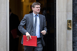 © Licensed to London News Pictures. 29/01/2019. London, UK. Secretary of State for Business, Energy and Industrial Strategy Greg Clark leaves 10 Downing Street after the Cabinet meeting, as Brexit negotiations continue. MPs will vote on a series of amendments this evening. Photo credit: Rob Pinney/LNP