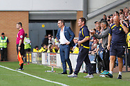 Sheffield Wednesday manager Carlos Carvalhal and Burton Albion manager Nigel Clough on the touchline during the EFL Sky Bet Championship match between Burton Albion and Sheffield Wednesday at the Pirelli Stadium, Burton upon Trent, England on 26 August 2017. Photo by Richard Holmes.