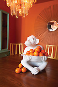 Monkey Decor on dining room table photo by Brandon Alms Photography