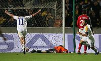 1:1 Tor von Zypern von Ioannis Okkas rechts, Michael Constantinou Nr.11, Torwart Timo Hildebrand geschlagen, Arne Friedrich <br /> EM-Qualifikation Zypern - Deutschland<br /> Cyprus - Germany <br /> Kypros - Tyskland<br /> Norway only