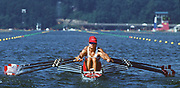 Atlanta, USA,  CAN W4X , Katherinr HEDDLE, stroking move away from the start, at the 1996, Olympic Rowing Regatta at Lake Lanier, Gainsville Georgia,  [Photo Peter Spurrier/Intersport Images]