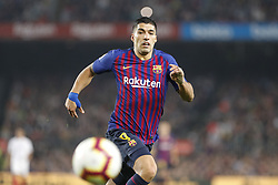 October 20, 2018 - Barcelona, Catalonia, Spain - FC Barcelona forward Luis Suarez (9) during the match FC Barcelona against Sevilla FC, for the round 9 of the Liga Santander, played at Camp Nou  on 20th October 2018 in Barcelona, Spain. (Credit Image: © Mikel Trigueros/NurPhoto via ZUMA Press)