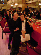 Father George Bowen and George Burnand. White Knights Ball, Grosvenor House. Park Lane. London. 6  January 2006. ONE TIME USE ONLY - DO NOT ARCHIVE  © Copyright Photograph by Dafydd Jones 66 Stockwell Park Rd. London SW9 0DA Tel 020 7733 0108 www.dafjones.com