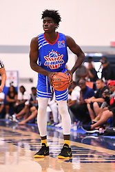 June 3, 2018 - Norwalk, CA, U.S. - NORWALK, CA - JUNE 03: Kahlil Whitney from Roselle Catholic High School looks to make a pass during the Pangos All-American Camp on June 3, 2018 at Cerritos College in Norwalk, CA. (Photo by Brian Rothmuller/Icon Sportswire) (Credit Image: © Brian Rothmuller/Icon SMI via ZUMA Press)