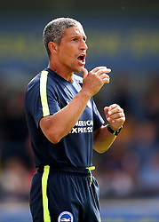 """Brighton Manager Chris Hughton during a pre season friendly match at The Cherry Red Records Stadium, Kingston Upon Thames. PRESS ASSOCIATION Photo. Picture date: Saturday July 21, 2018. Photo credit should read: Mark Kerton/PA Wire. EDITORIAL USE ONLY No use with unauthorised audio, video, data, fixture lists, club/league logos or """"live"""" services. Online in-match use limited to 75 images, no video emulation. No use in betting, games or single club/league/player publications."""