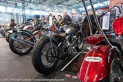 Stile Ostile's custom 1974 Harley-Davidson Ironhead Sportster in the Low Ride custom bike show during the Motor Bike Expo. Verona, Italy. Sunday January 22, 2017. Photography ©2017 Michael Lichter.