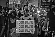 Portester at a<br /> George Floyd Solidarity protest In New Orleans